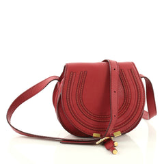 Chloe Marcie Crossbody Bag Leather Mini Red 3492503