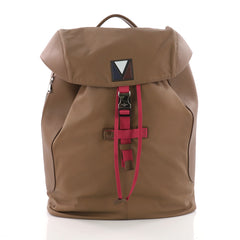 Louis Vuitton Pulse Backpack Leather and Nylon Brown 3494101