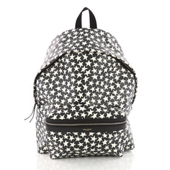 Saint Laurent City Backpack Printed Leather White 3495101