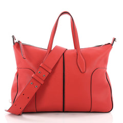 Tod's Piccolo Tote Leather Medium Red 3495901