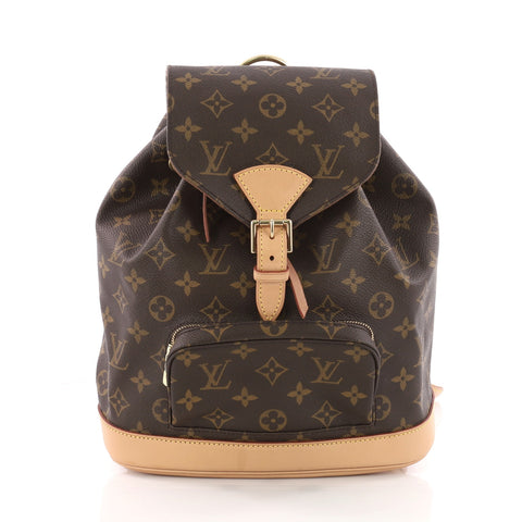 ff1b215443e4 Buy Louis Vuitton Montsouris Backpack Monogram Canvas MM 3496501 – Rebag