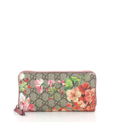 Gucci Zip Around Wallet Blooms Print GG Coated Canvas 3497803