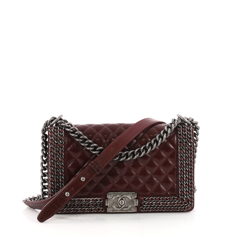 392bf81cfcbf31 Chanel Chained Boy Flap Bag Quilted Glazed Calfskin Old 3498802 – Rebag