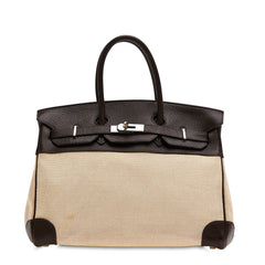 Birkin Handbag Canvas and Leather 35
