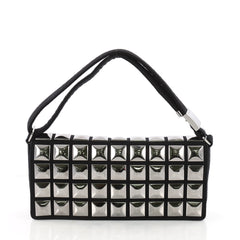 CC Pyramid Stud Flap Bag Embellished Jersey