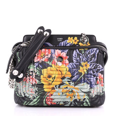 Fendi DotCom Click Shoulder Bag Quilted Printed Leather 3500905