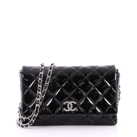 0f6d77b63efd Buy Chanel Brilliant Wallet on Chain Quilted Patent Black 3502102 – Rebag