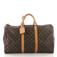 Louis Vuitton Keepall Bag Monogram Canvas 50