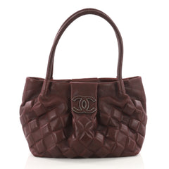 Chanel Sloane Square Tote 3D Quilted Calfskin Small Red 3504901
