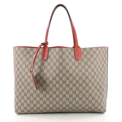 Gucci Reversible Tote GG Print Leather Medium Brown 3505403