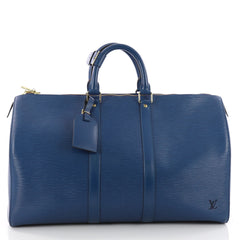 Louis Vuitton Keepall Bag Epi Leather 45 Blue 3506202