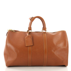 Louis Vuitton Keepall Bag Epi Leather 45 Brown 3506301