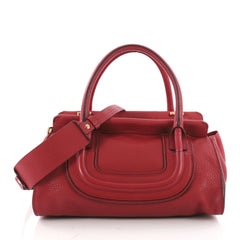 Chloe Everston Satchel Leather Medium Red 3513903