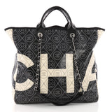 Chanel Logo Shopping Tote Printed Coated Canvas Large 3516101