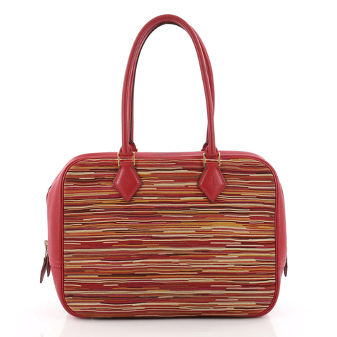 5d64ce166b0 ... best buy hermes plume bag vibrato and leather 28 red 3517002 rebag  94bf9 21ba4