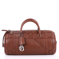 Christian Dior Connect Duffle Bag Giant Cannage Woven Brown 3517704