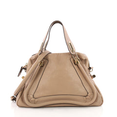 Chloe Paraty Top Handle Bag Leather Medium Neutral 3518202