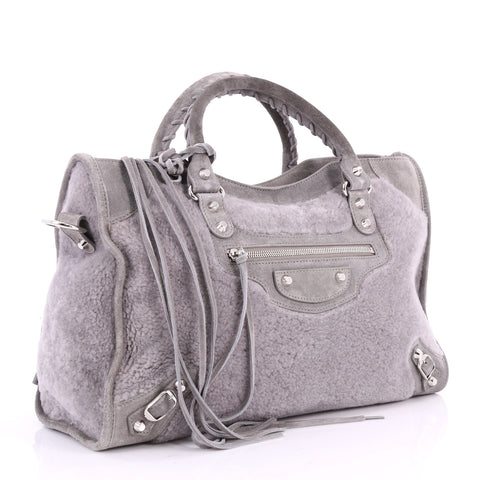 Buy Balenciaga City Classic Studs Handbag Shearling with 3519501 – Rebag 84d5c10a37e08