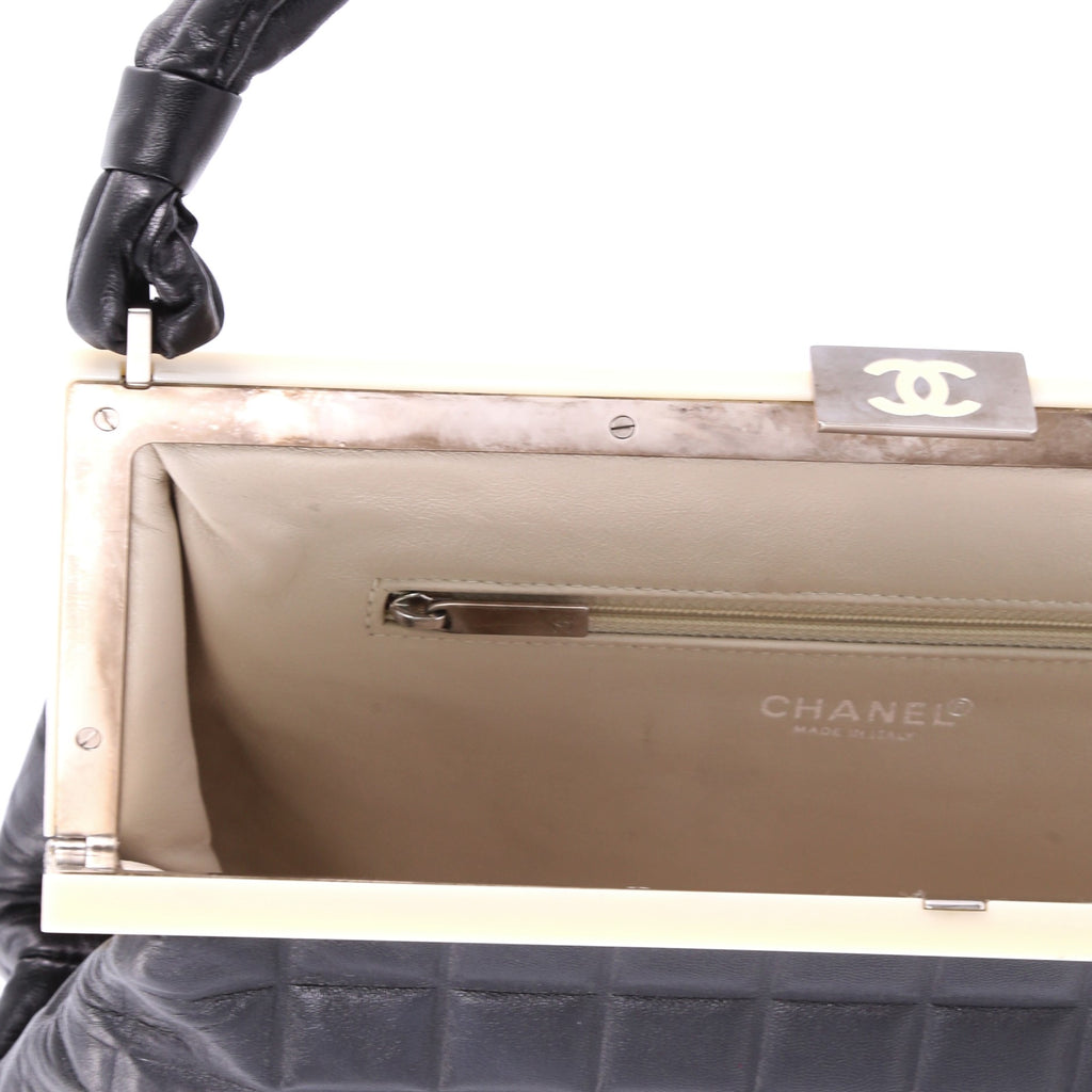 a89fb6f2ab7e Buy Chanel Chocolate Bar Frame Shoulder Bag Quilted Lambskin 3523907 ...