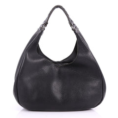 Bottega Veneta Campana Hobo Leather Small Black 3525401