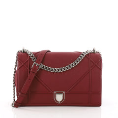 Christian Dior Diorama Flap Bag Grained Calfskin Large Red 3525403