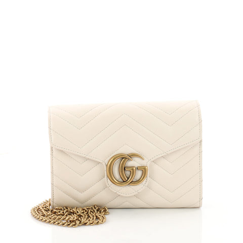 23b3b7600e2968 Buy Gucci GG Marmont Chain Wallet Matelasse Leather Mini 3526001 – Rebag