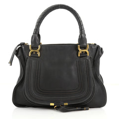 Chloe Marcie Shoulder Bag Leather Medium Black 3528502