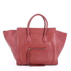 Celine Phantom Handbag Grainy Leather Medium Red 3529002