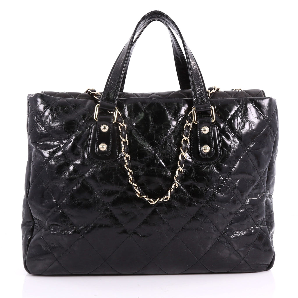 b2a304a88c25 Buy Chanel Portobello Tote Quilted Glazed Calfskin Large 3529201 – Rebag
