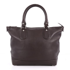Gucci Zip Top Tote Leather Large Brown 3529303