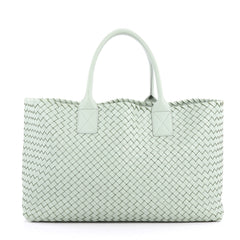 Bottega Veneta Cabat Tote Intrecciato Nappa Medium Green 3529502