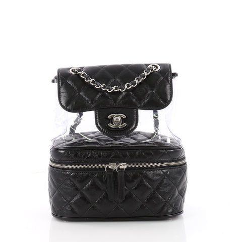 cfbba9c46edf Buy Chanel Zip Around Flap Backpack Quilted Crumpled 3532803 – Rebag
