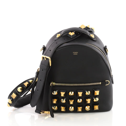 Fendi By The Way Backpack Crossbody Studded Leather Mini 3533301 – Rebag 05f59acbe02a7