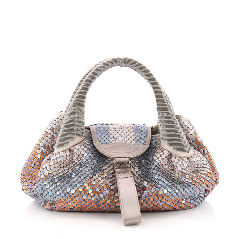 ... shop buy fendi spy bag sequin embellished satin small purple 3538703  rebag b5343 69d37 d8f23a1848f69