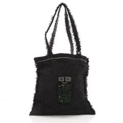 1beac7bbbe64 Chanel Shopping Tote Embellished Tweed Large Black 3539101