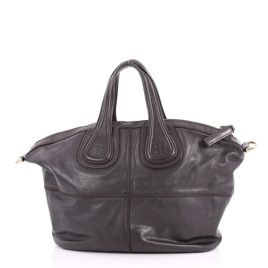 56b900f63093 Givenchy Nightingale Satchel Leather Small Brown 3542301 – Rebag