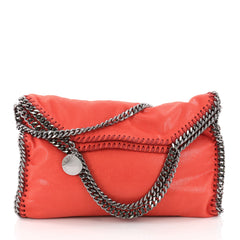Stella McCartney Falabella Fold Over Bag Shaggy Deer Red 3542704