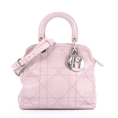 Christian Dior Granville Satchel Cannage Quilt Leather 3543105