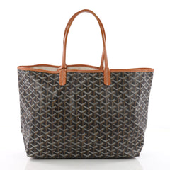 Goyard St. Louis Tote Coated Canvas PM Black 3544302