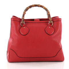 Gucci Diana Bamboo Top Handle Tote Leather Medium Red 3546101