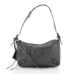 Balenciaga Getaway Classic Studs Handbag Leather Gray 3547302