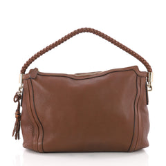 Gucci Bella Hobo Leather Medium Brown 3547304