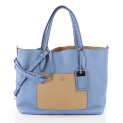 Tod's Joy Reversible Tote Leather Medium Blue 3550104
