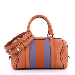 Gucci Vintage Web Boston Bag Leather Small Orange 3550204