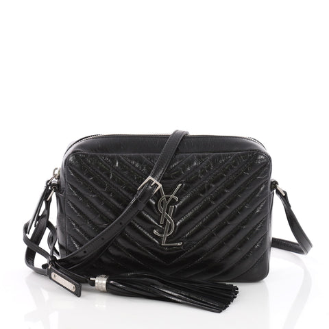 279c114a3 Buy Saint Laurent Lou Camera Bag Matelasse Chevron Leather 3550403 – Rebag