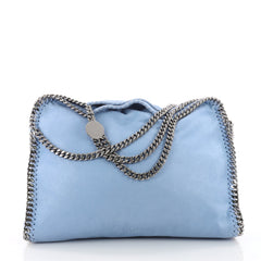 Stella McCartney Falabella Fold Over Bag Shaggy Deer Blue 3550901