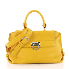 Sofia Satchel Pebbled Leather Medium