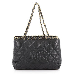 Chain Me Tote Quilted Calfskin Small