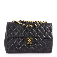 Chanel Vintage Classic Single Flap Bag Quilted Lambskin 3555201