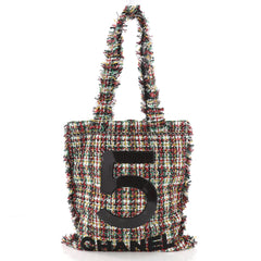 Chanel No. 5 Shopping Tote Tweed Large White 3555302
